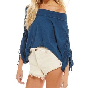 NWT Free People Bohema Off the Shoulder Tee